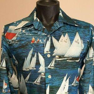 Vintage 70s Arrow Joe Namath Button Down Shirt M